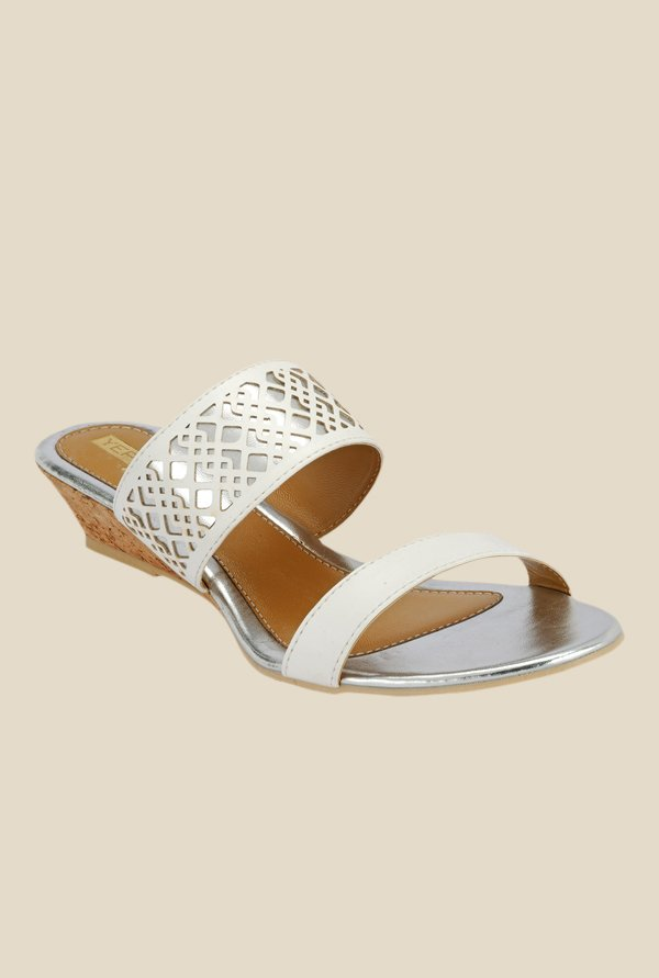 Yepme White Wedge Heeled Sandals