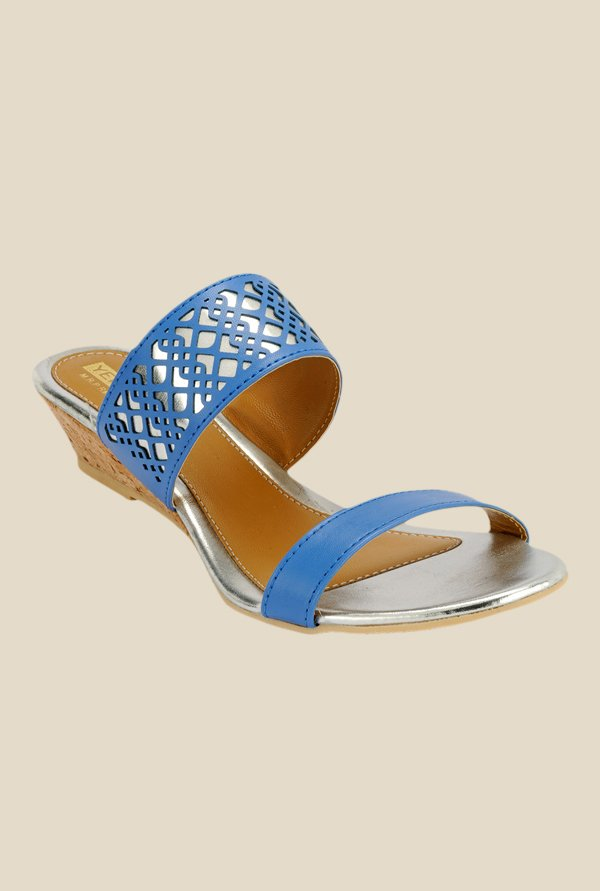 Yepme Blue Wedge Heeled Sandals