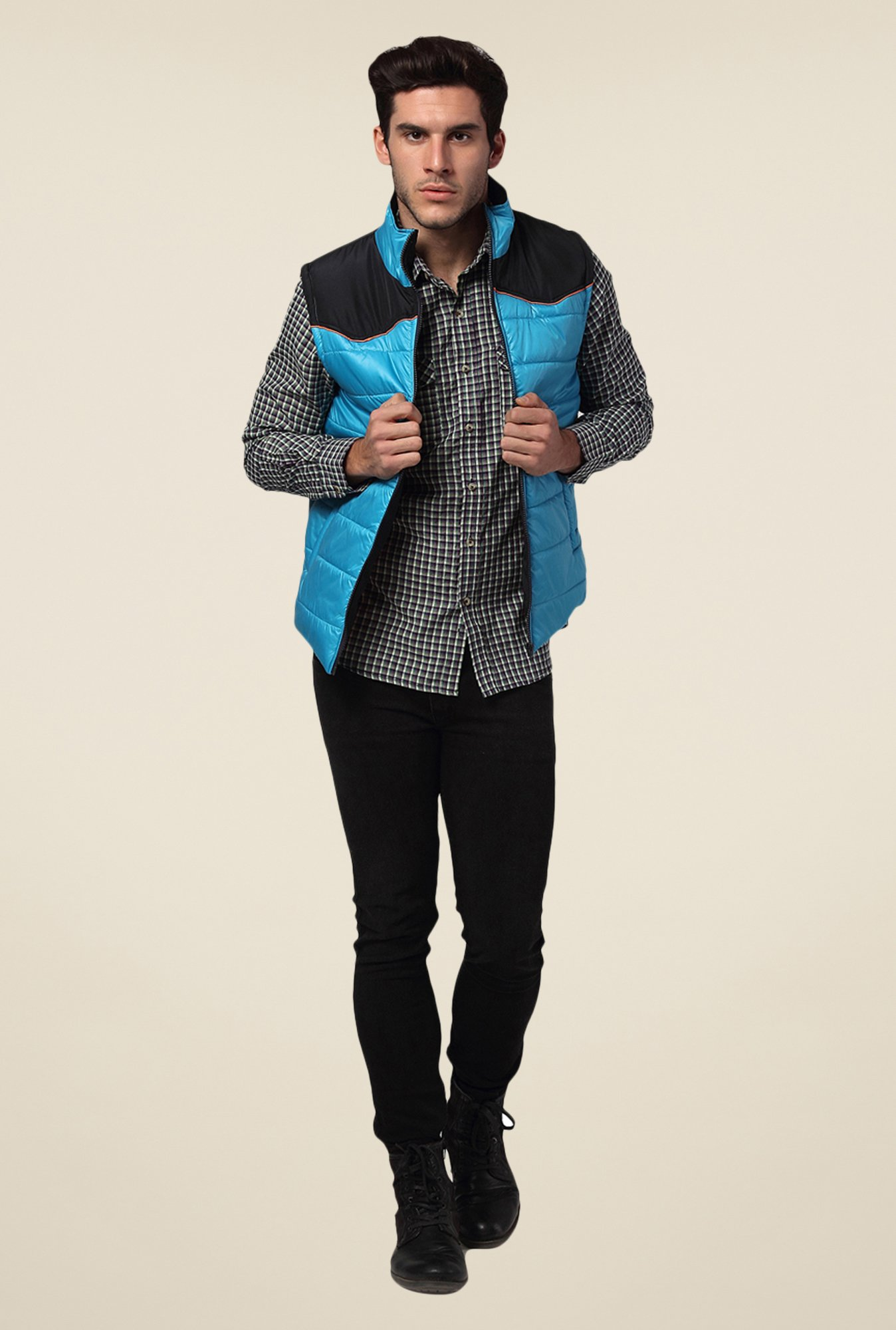 Yepme Blue Ethan Quilted Jacket
