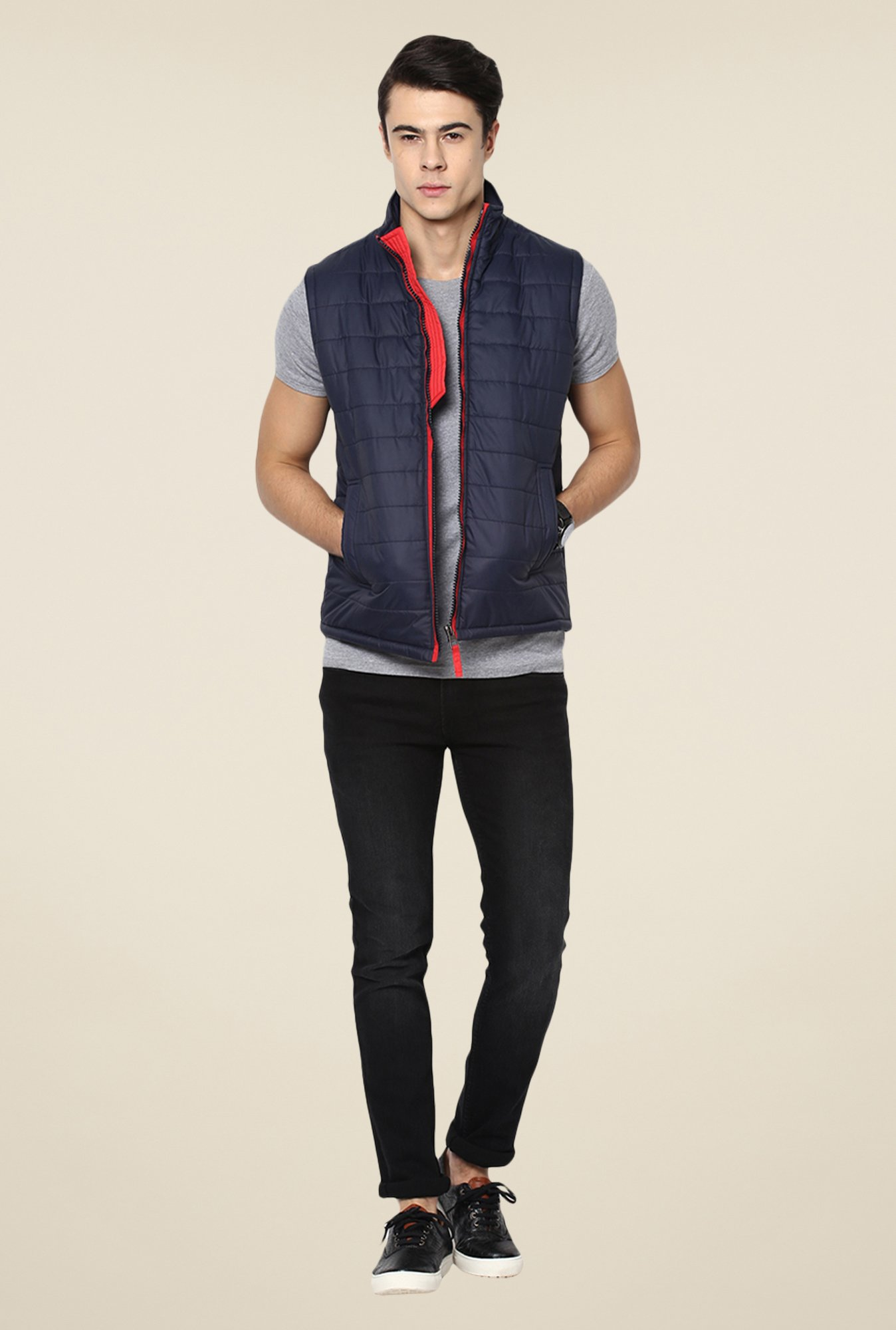 Yepme Navy Julius Quilted Jacket