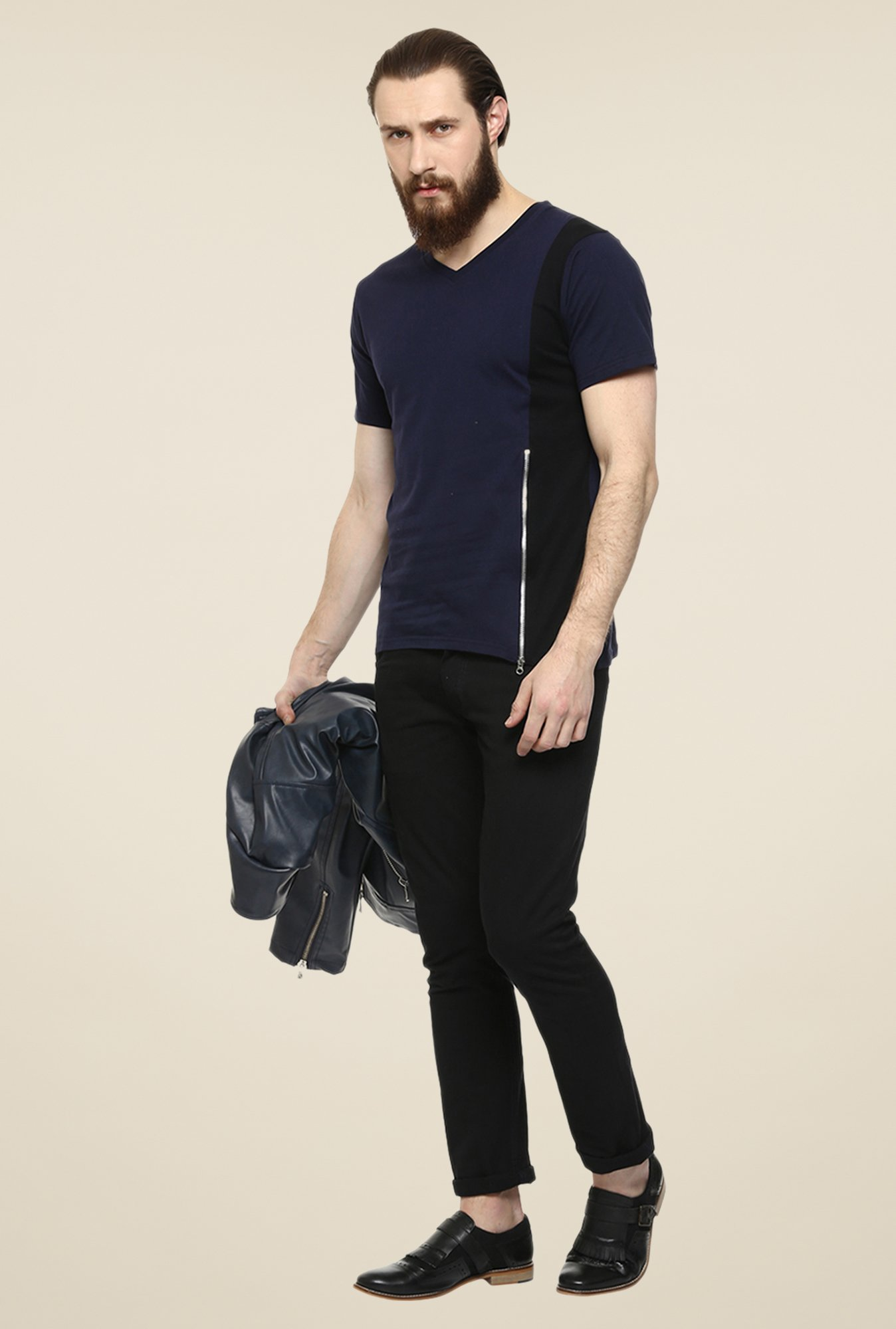 Yepme Navy Reeves Party T Shirt
