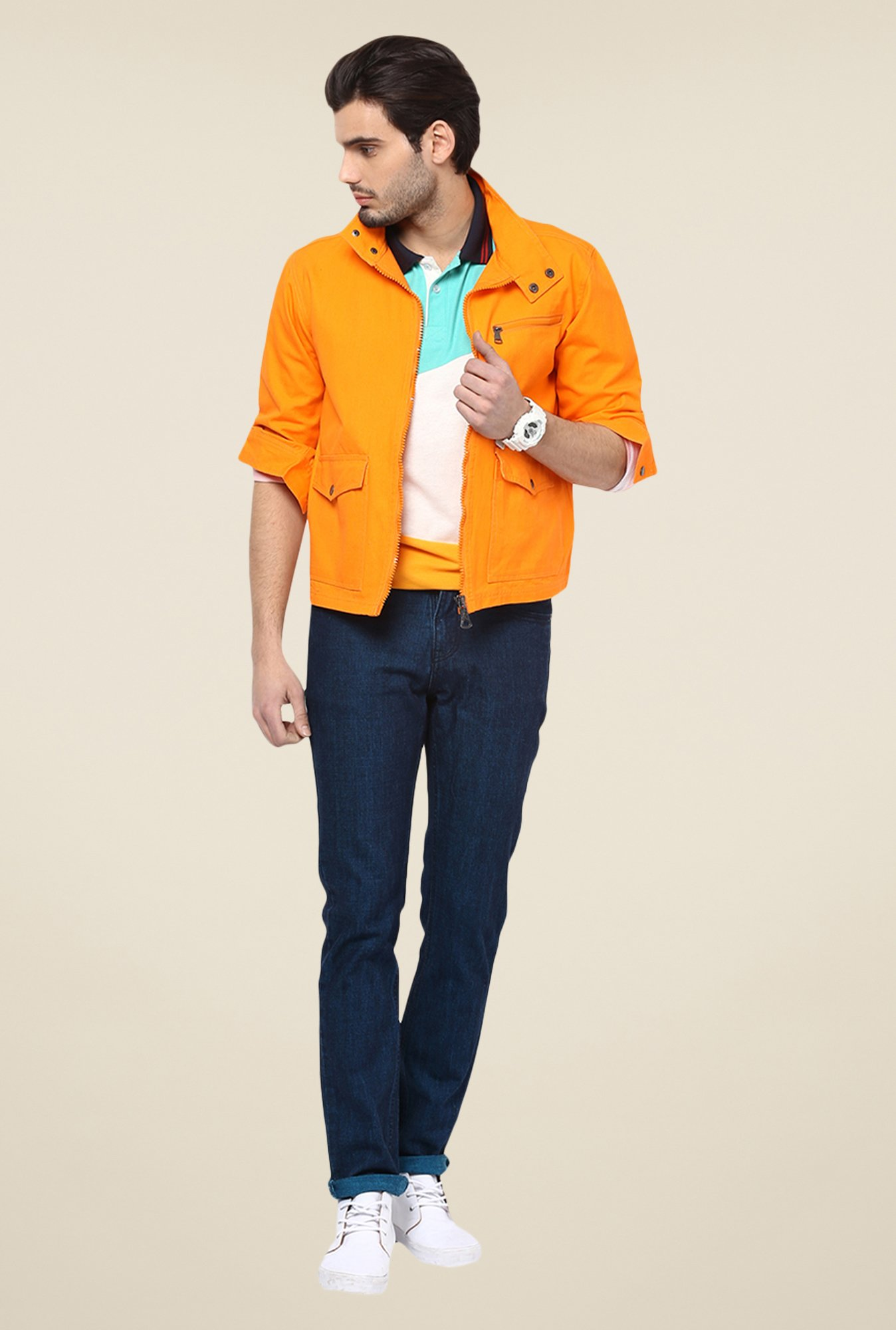 Yepme Orange Edward Solid Jacket