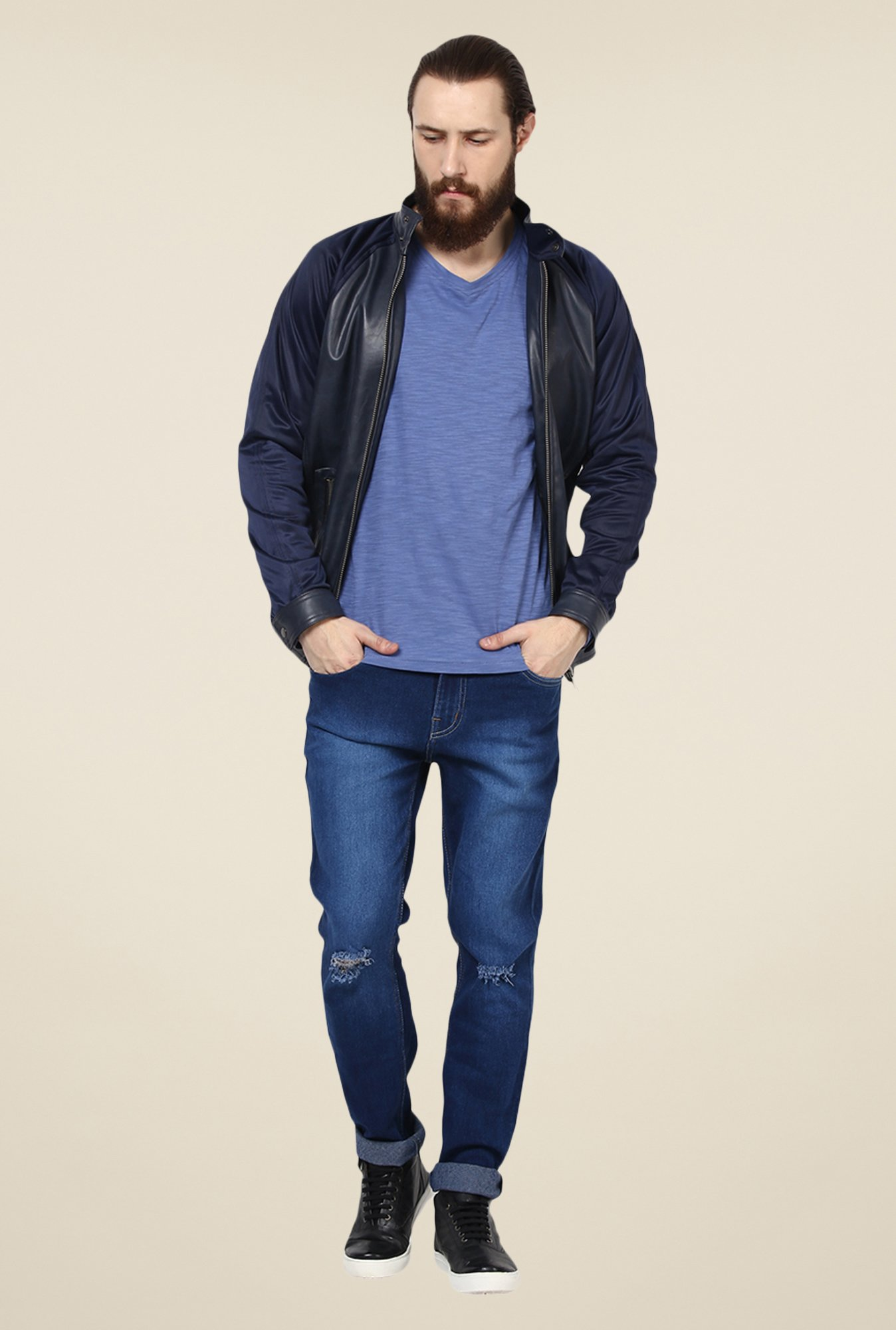 Yepme Blue Mikael Solid Jacket