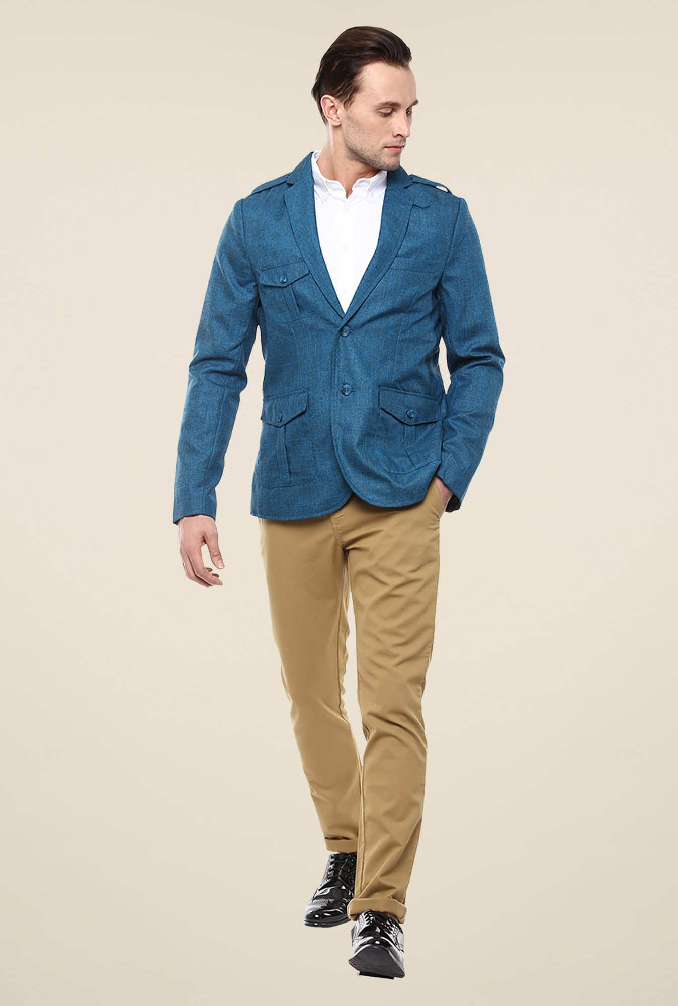 Yepme Blue Ashton Solid Blazer