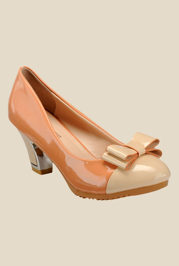 Yepme Peach & Beige Casual Pumps
