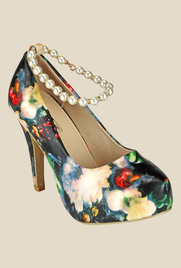 Yepme Multicoloured Ankle Strap Pumps