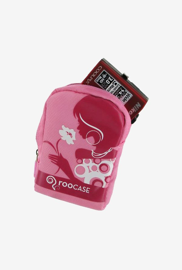 Roocase Nylon Padded Case for Nikon Coolpix S80 (Pink)