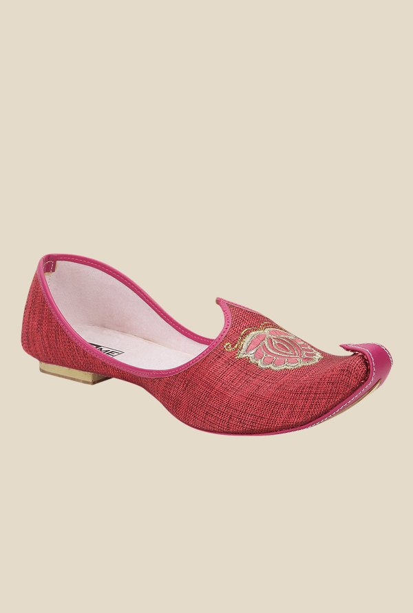 Yepme Red & Pink Jutti Shoes