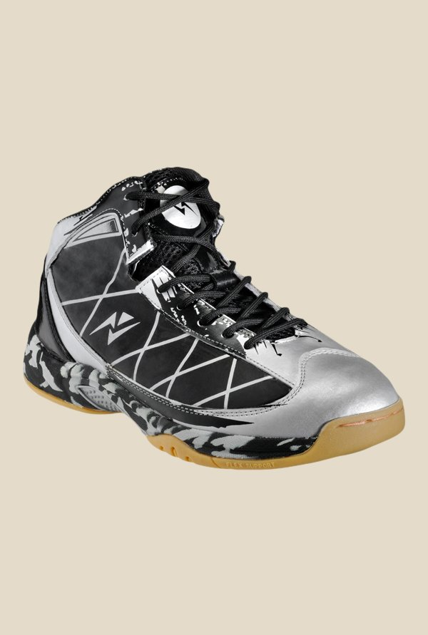 Yepme Silver & Black Basketball Shoes