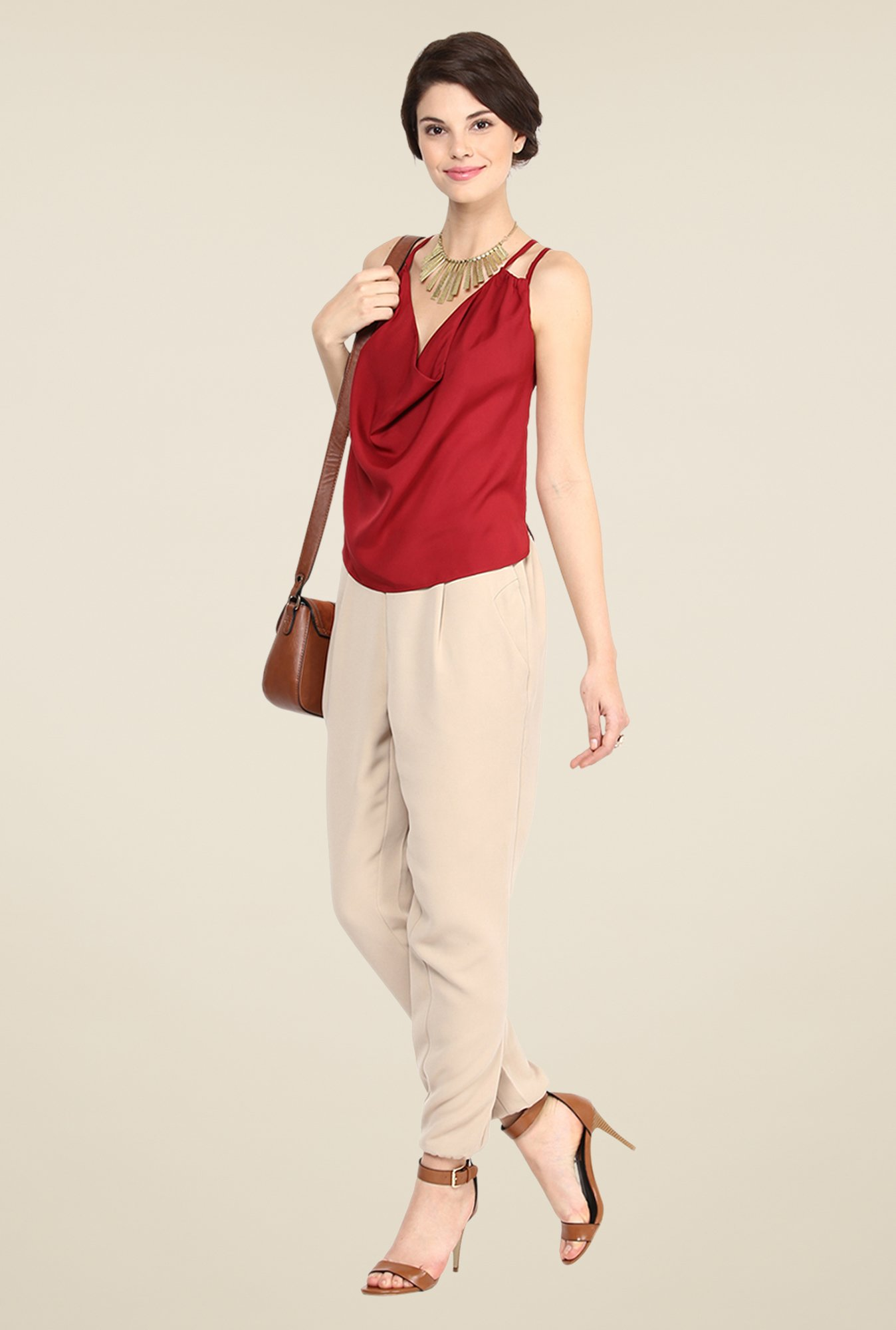 Yepme Red Adrine Cami Top