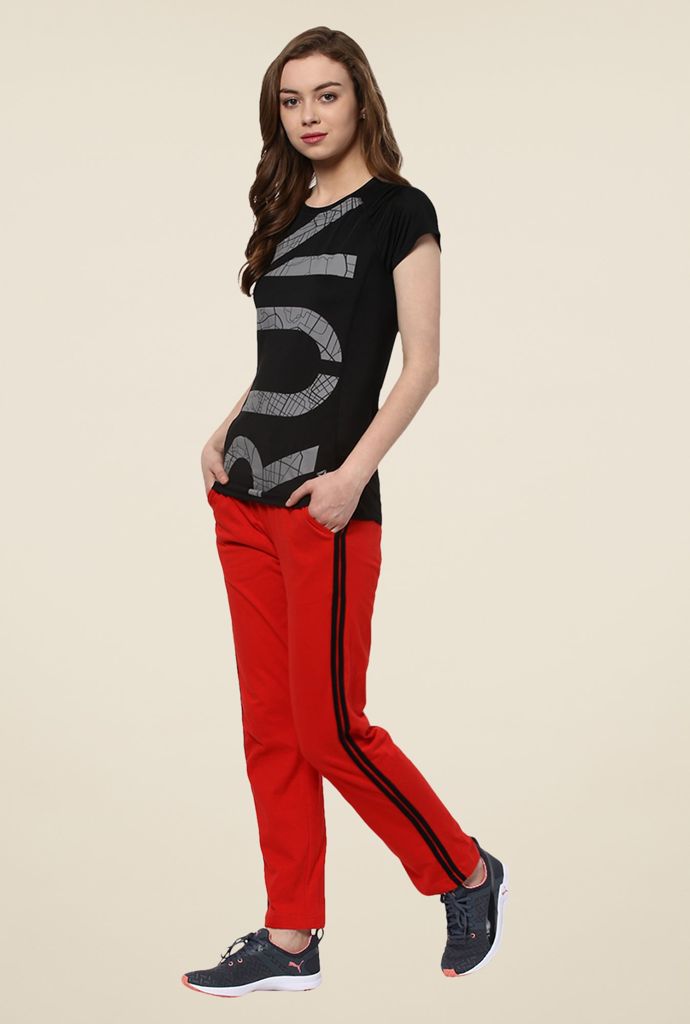 Yepme Red Leanne Trackpants