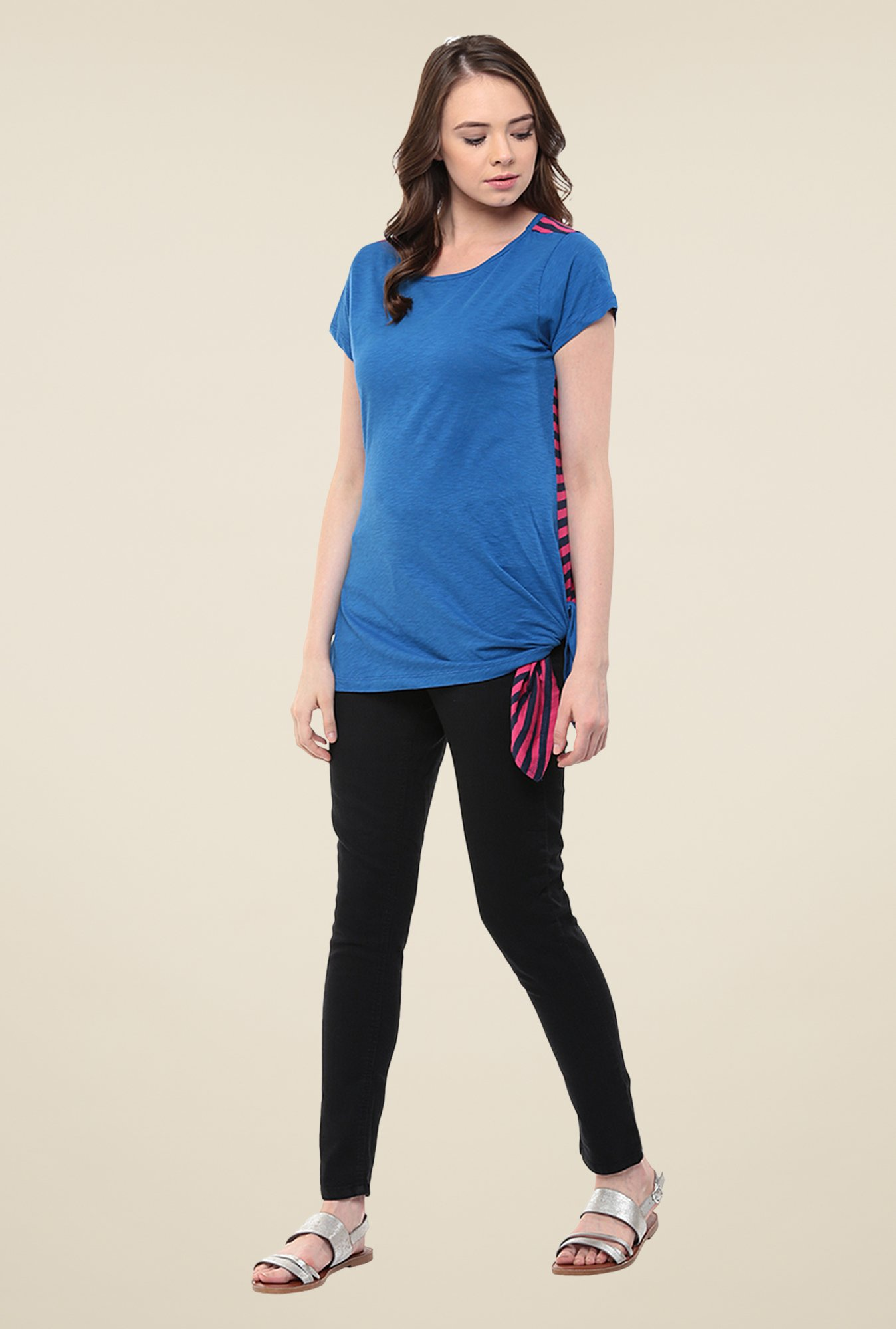 Yepme Blue Doria Asymmetrical Top