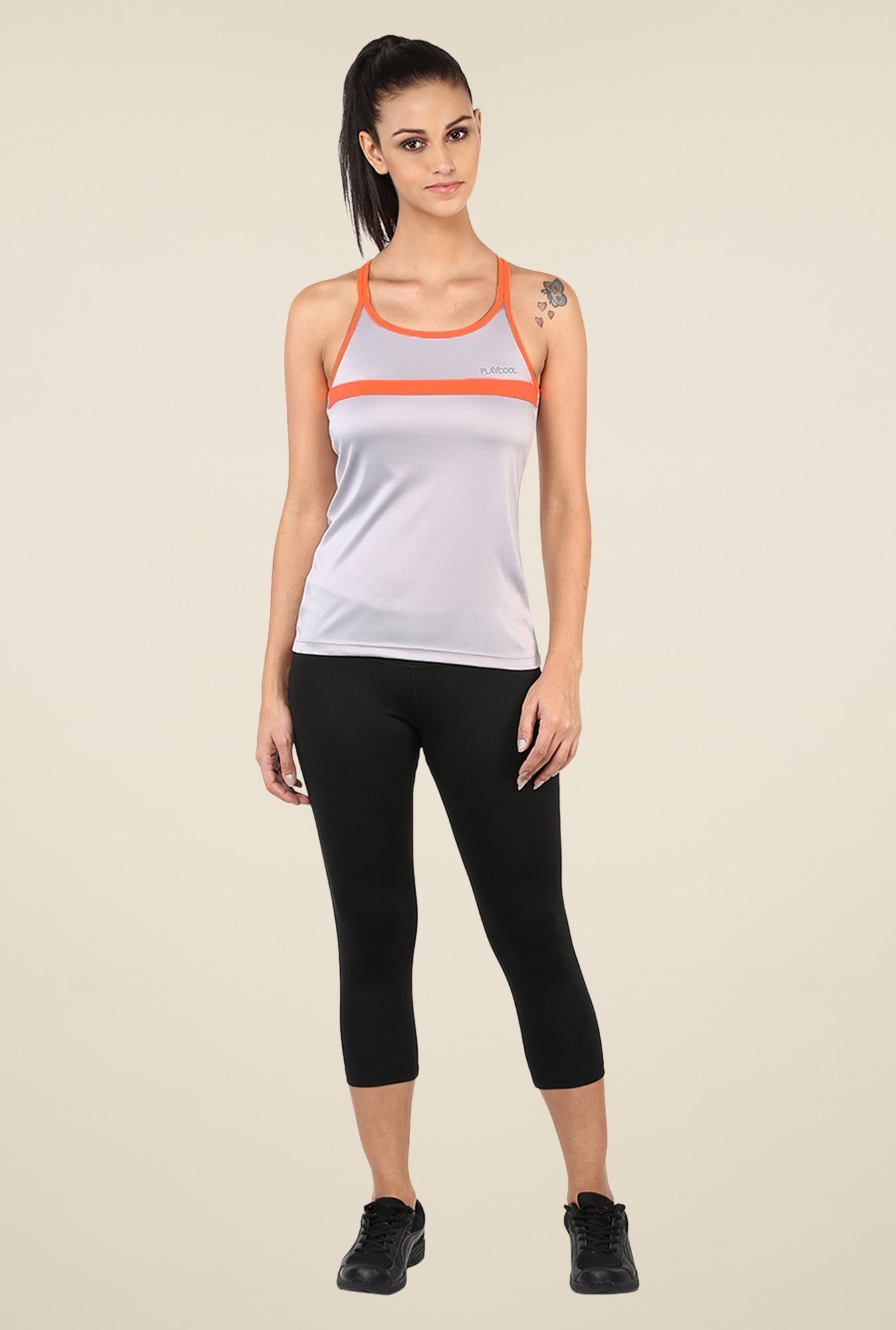 Yepme Laura Active Cami Grey T Shirt