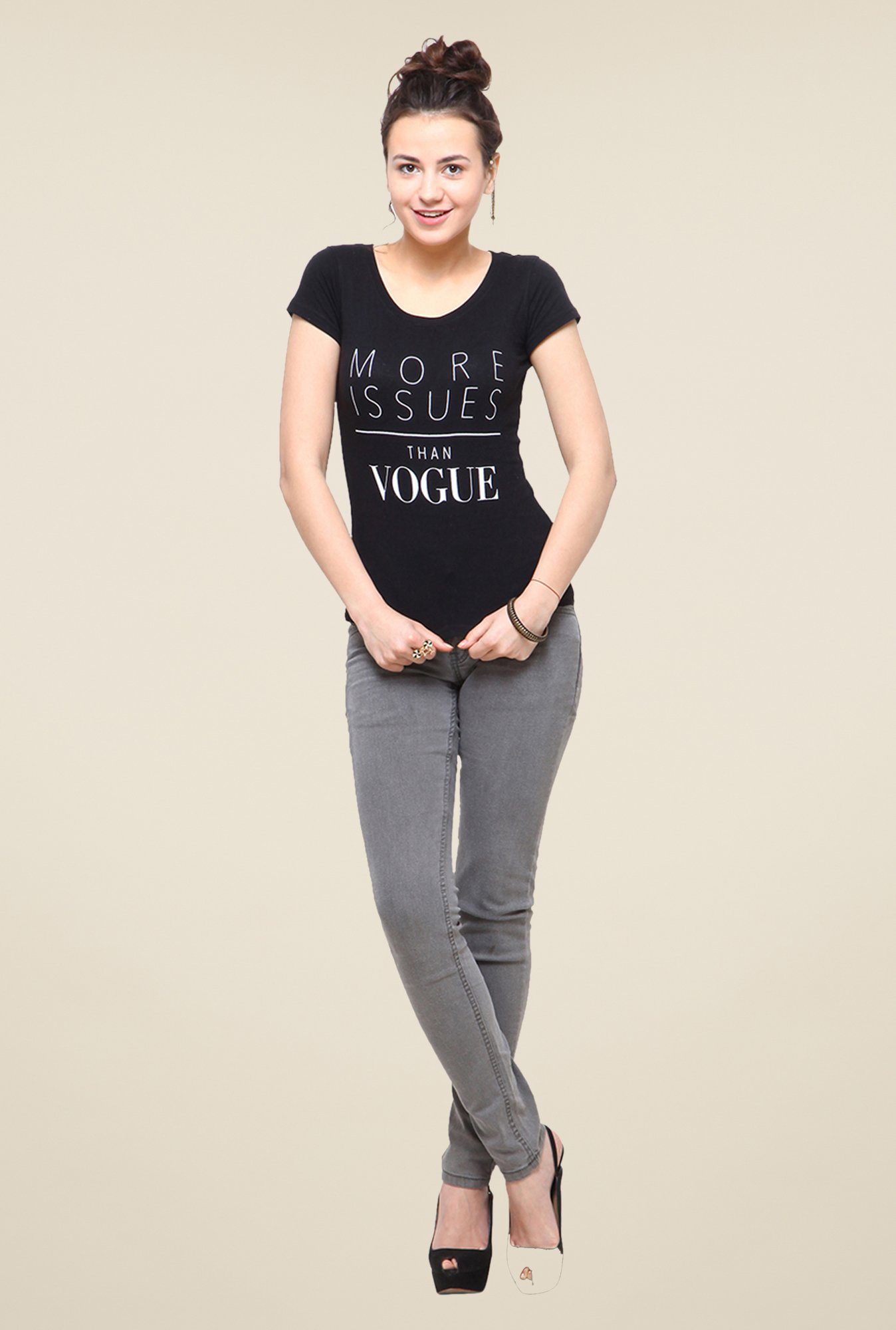 Yepme Vogue Black T Shirt
