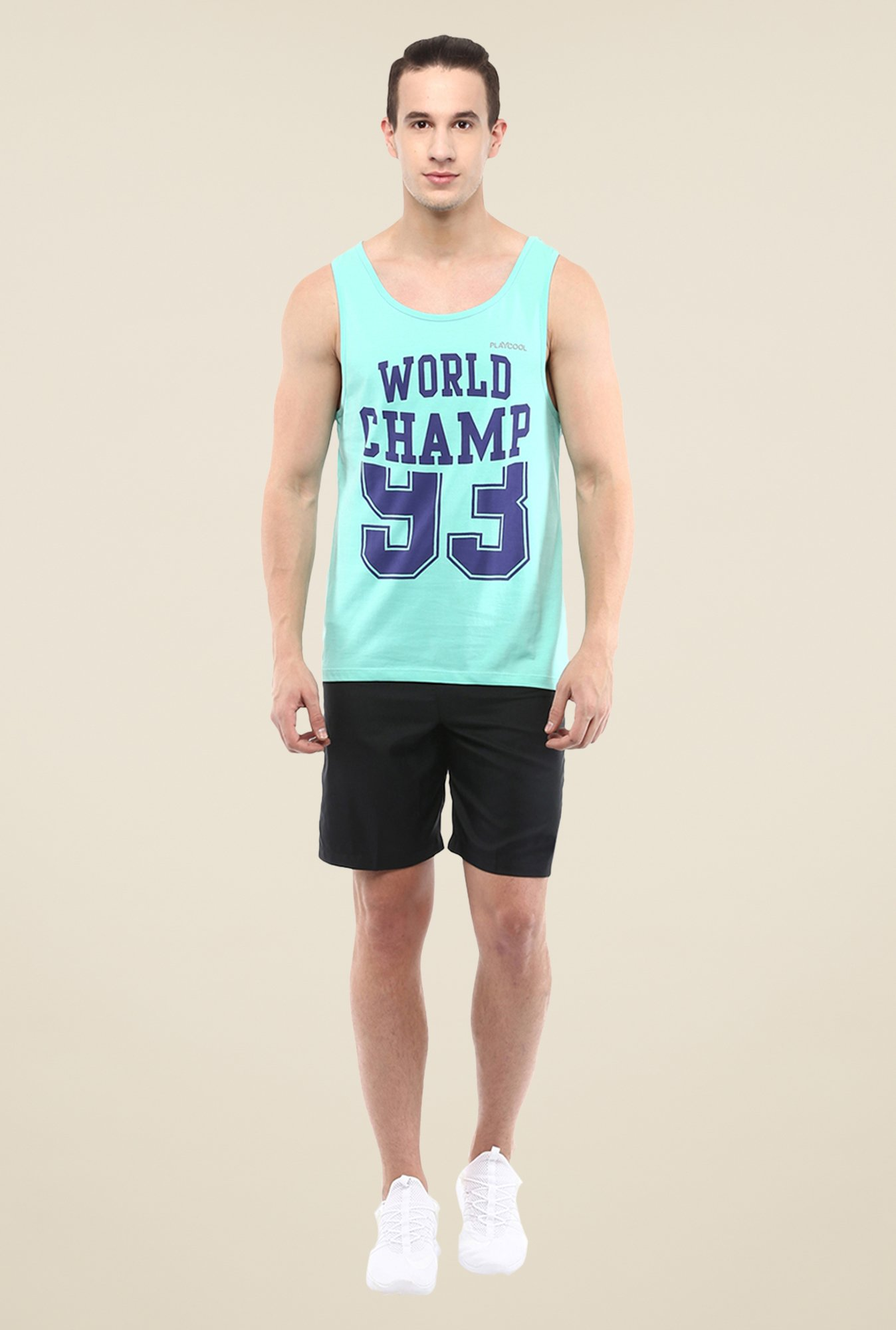 Yepme Turquoise Lars High Performance Muscle Vest