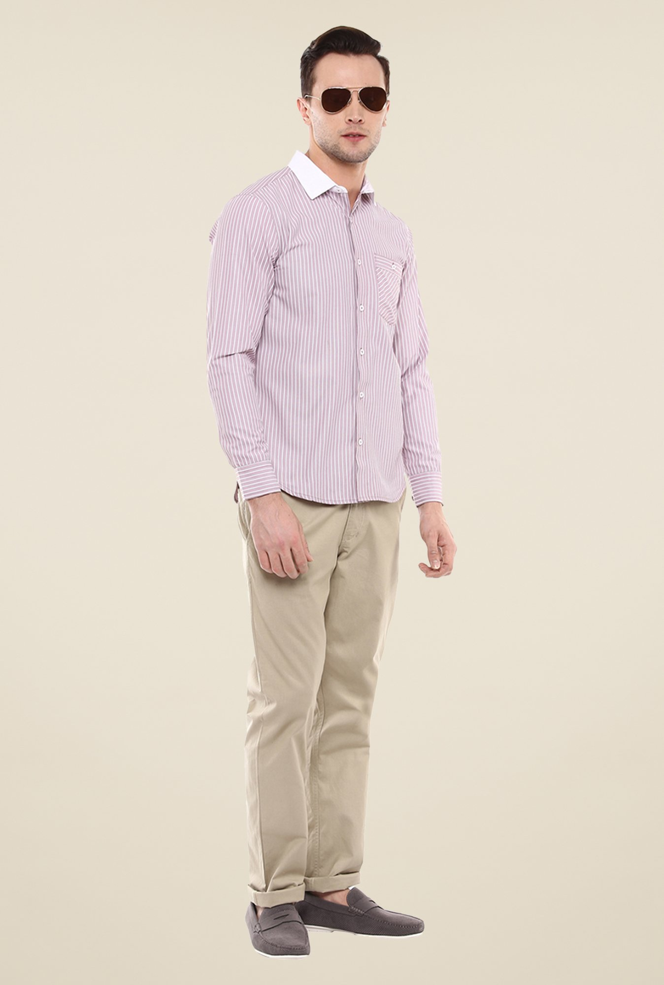 Yepme Purple Luther Striped Shirt