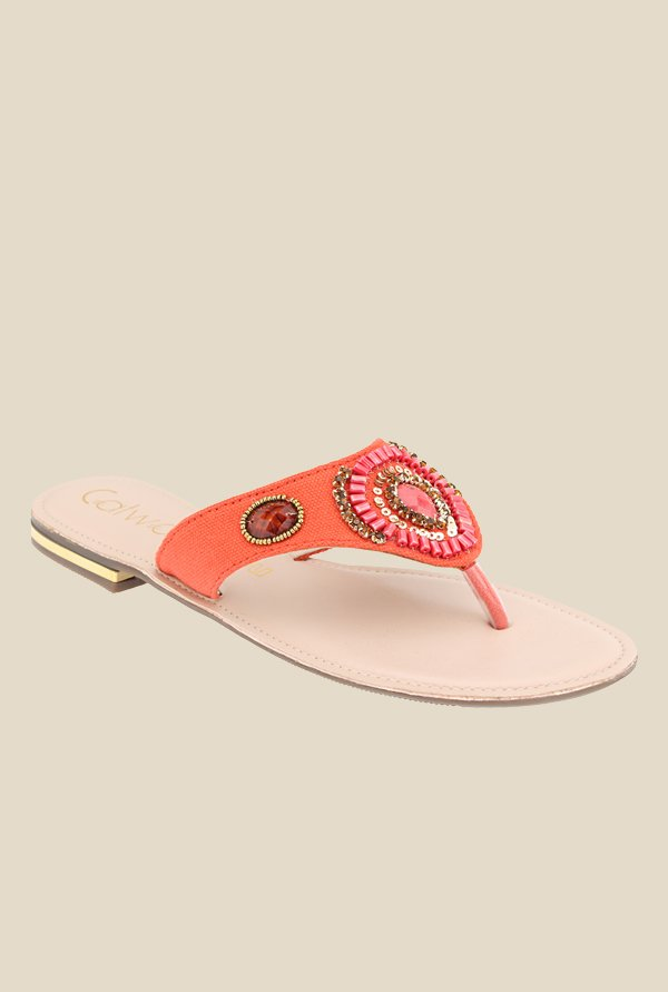 Catwalk Orange Thong Sandals