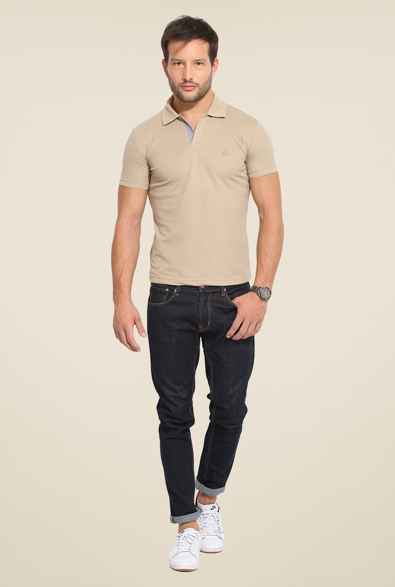 Duke Stardust Tan Solid T Shirt