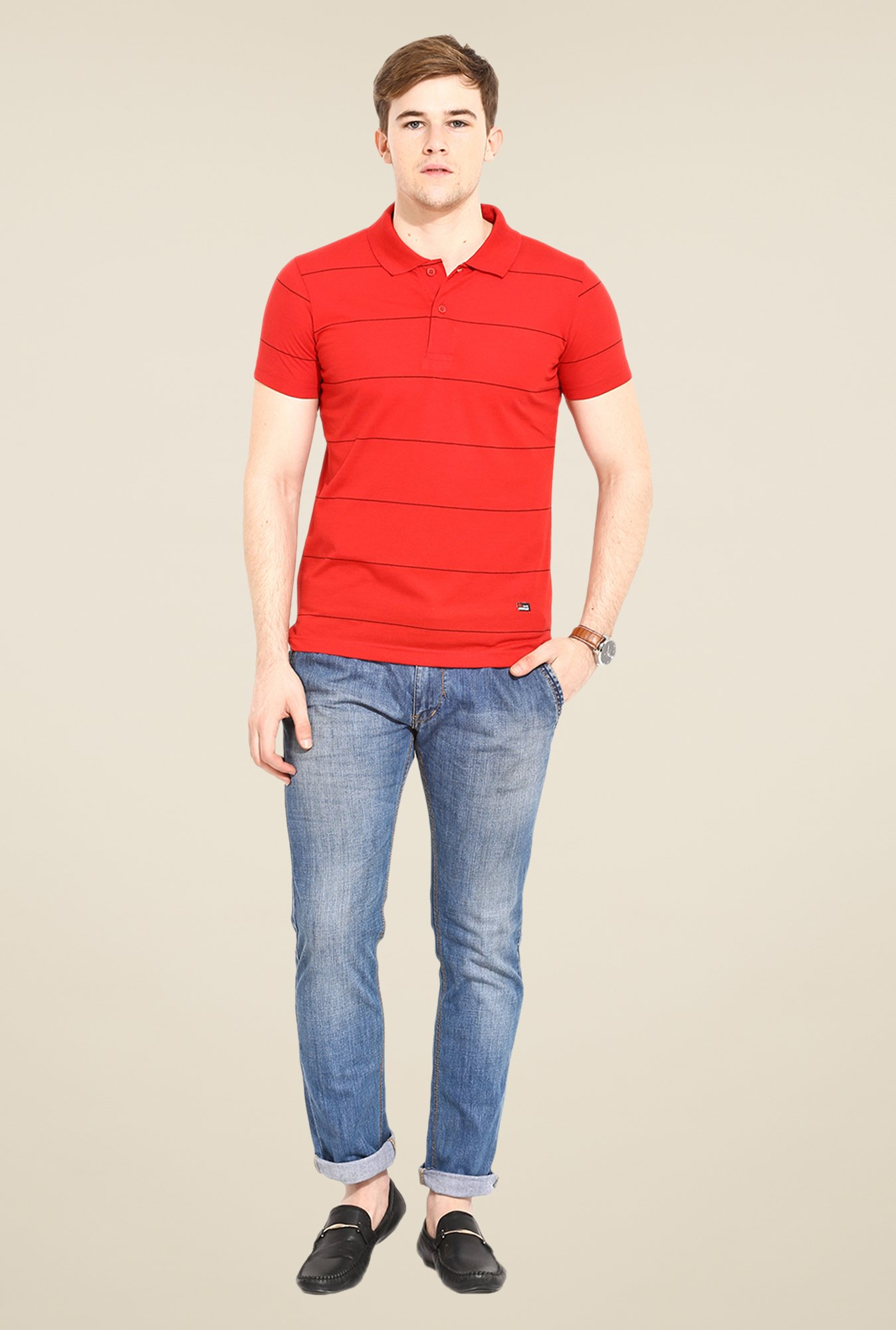 Duke Stardust Red Striped T Shirt