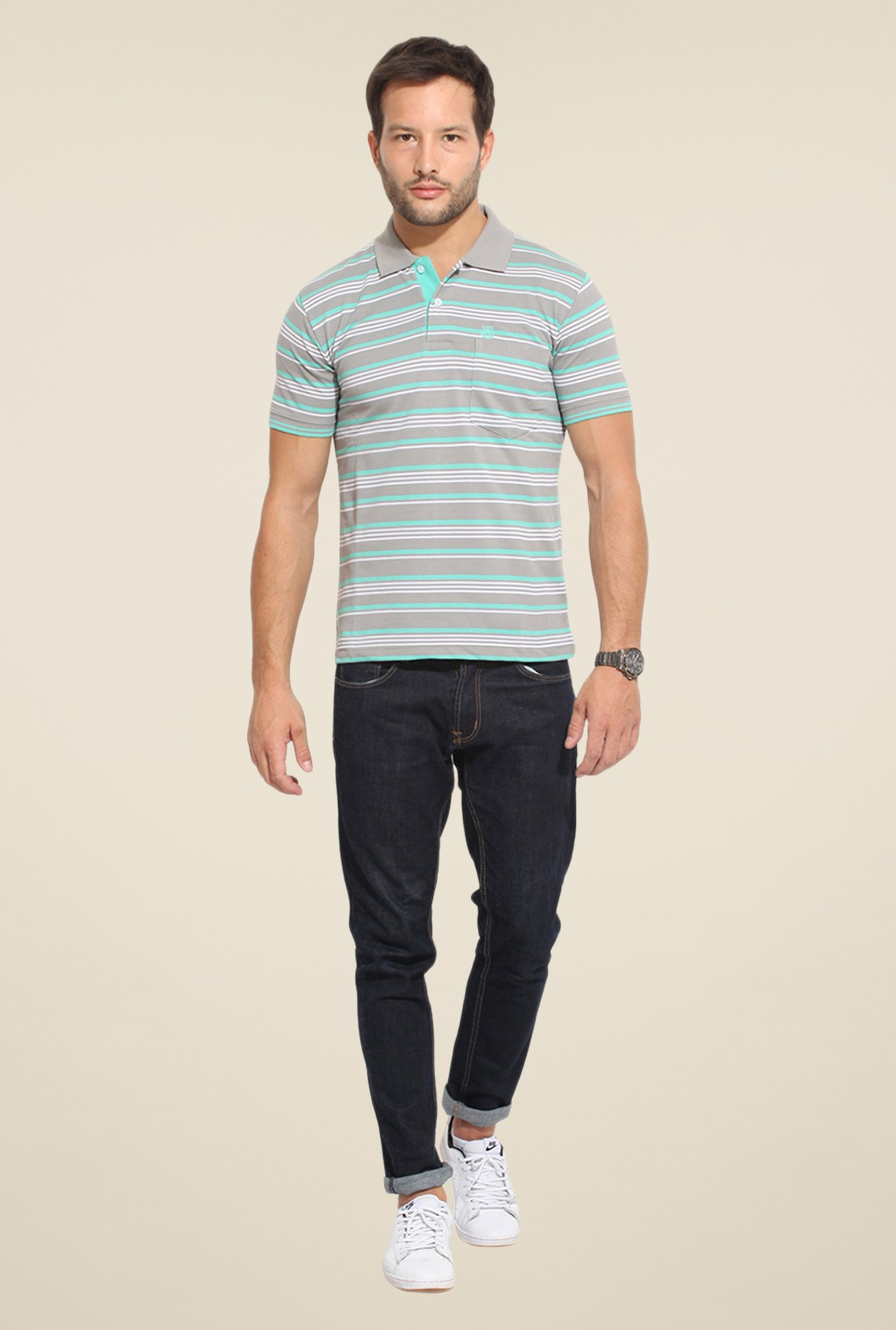 Duke Stardust Grey Striped T-shirt