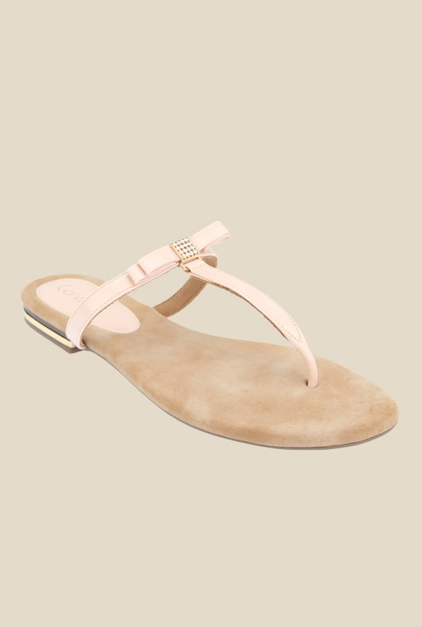 Catwalk Peach T-Strap Sandals