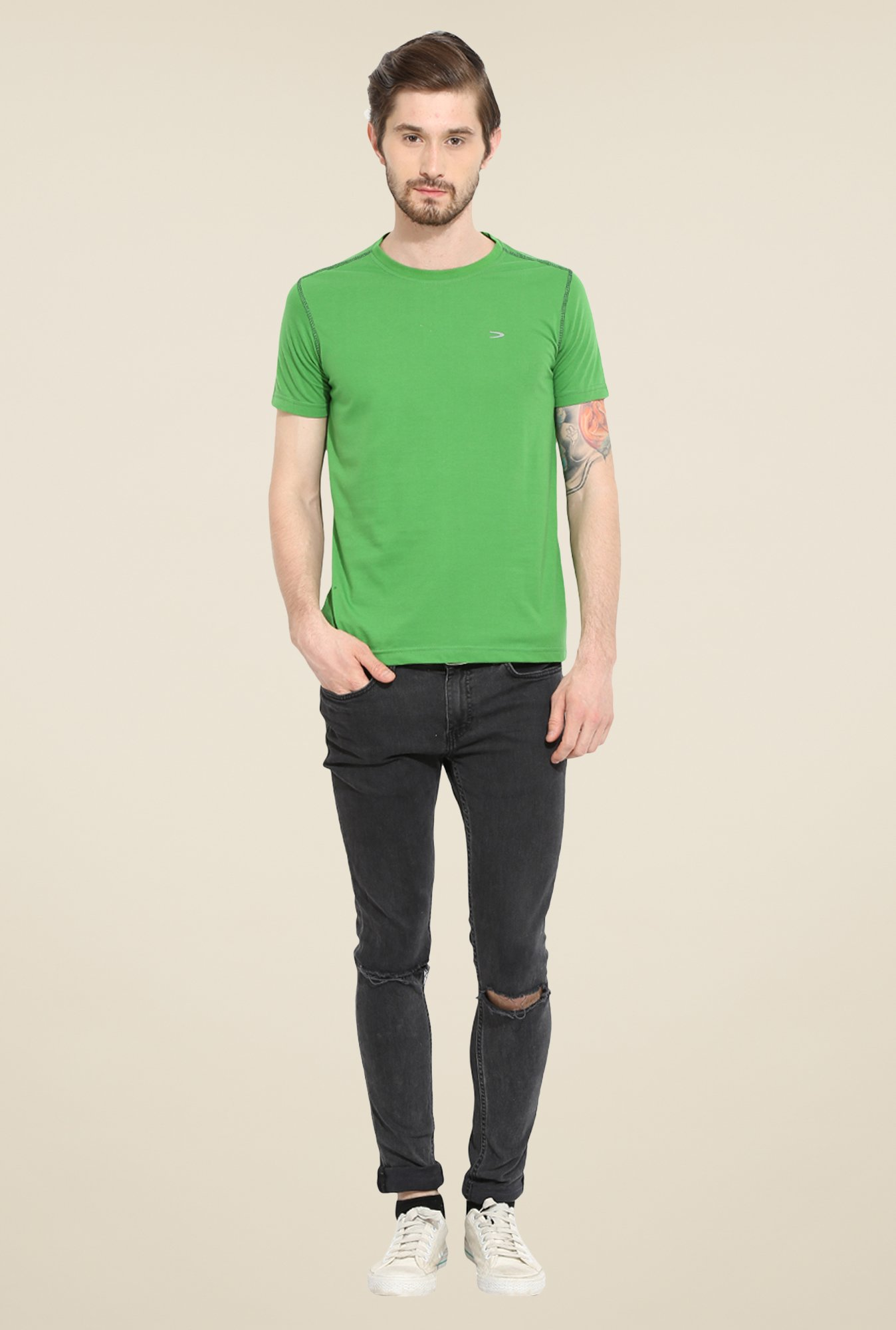 Duke Stardust Green Solid T-shirt