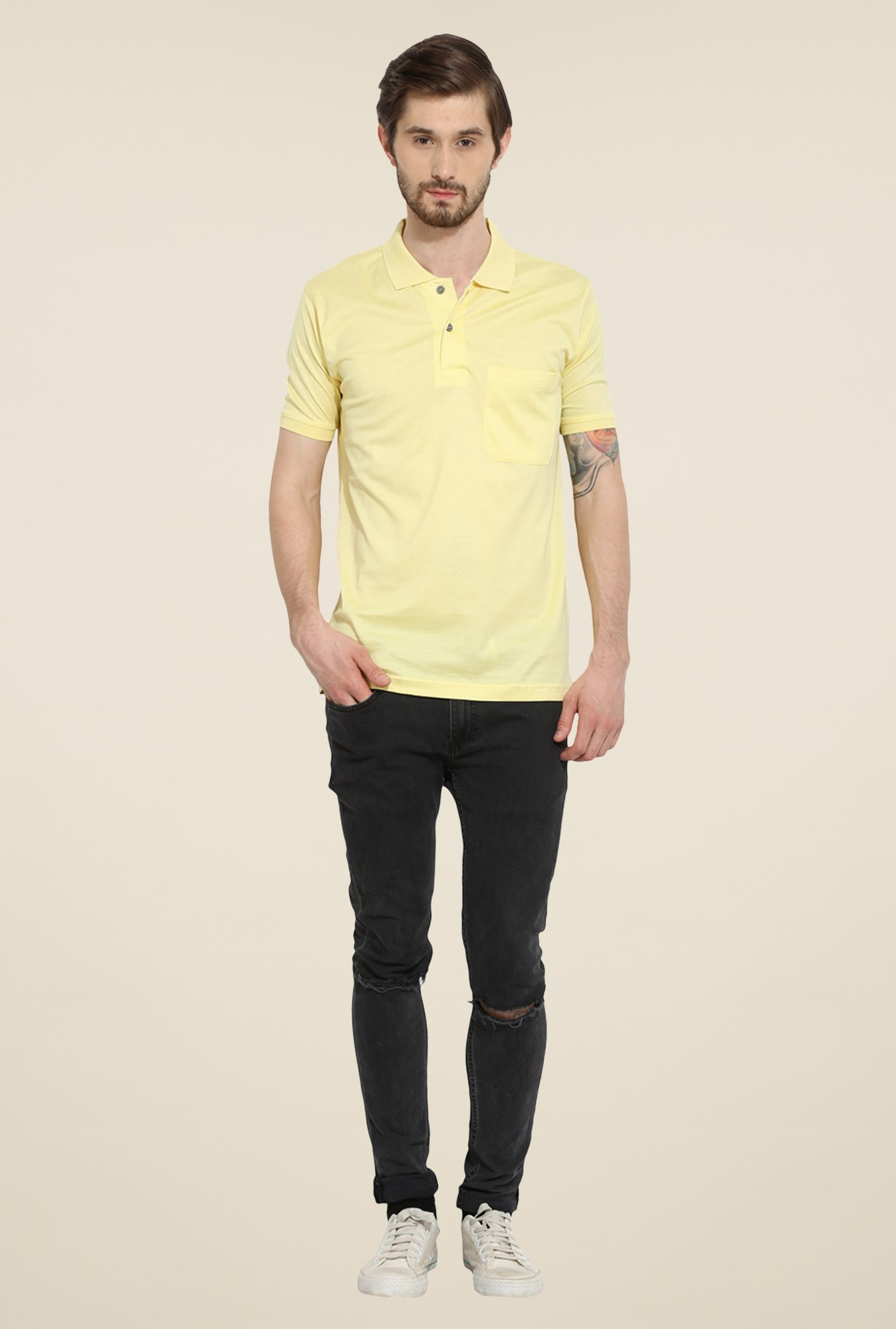 Duke Stardust Yellow Solid T-shirt