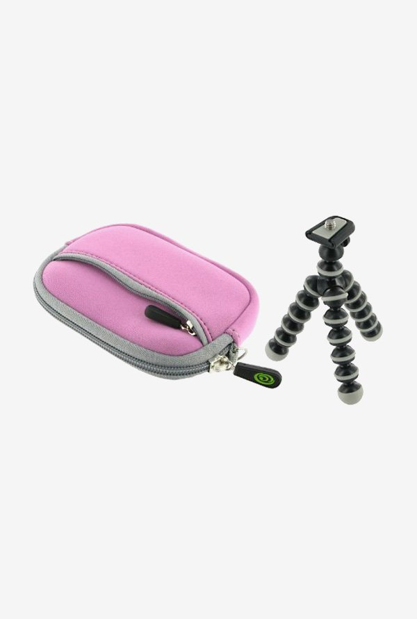 rooCASE Carrying Case with Tripod for Sony DSC-TX10 (Lilac)