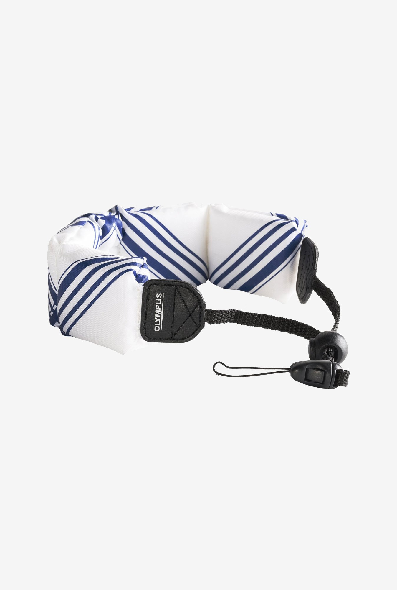 Olympus Fashion Float Strap for Camera (White/Blue)