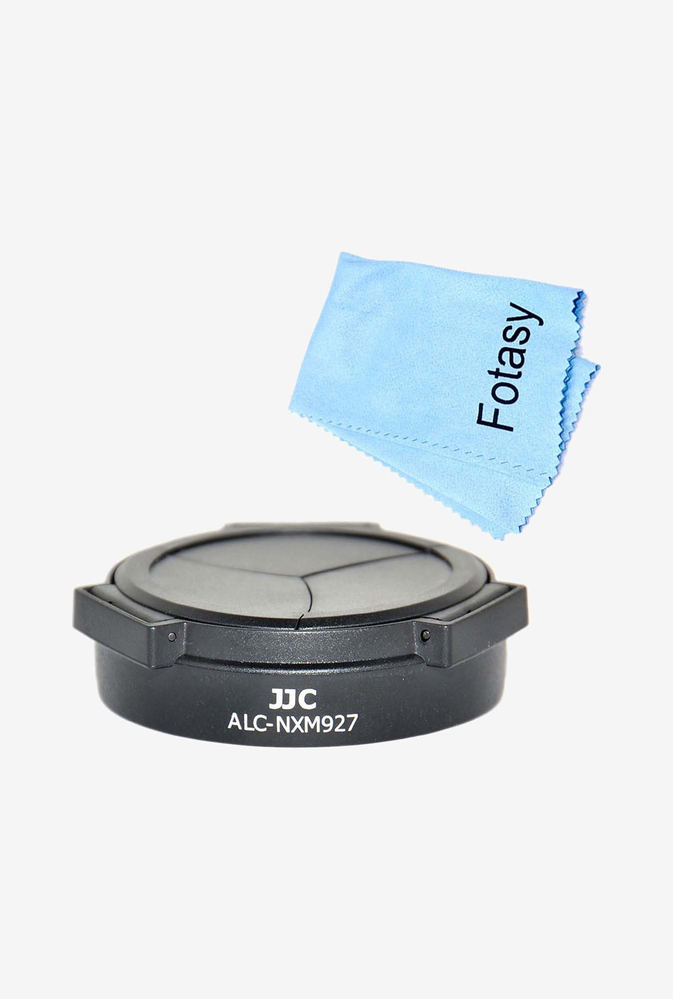 Fotasy AHNXM Auto Lens Cap Hood & Cleaning Cloth Kit (Black)