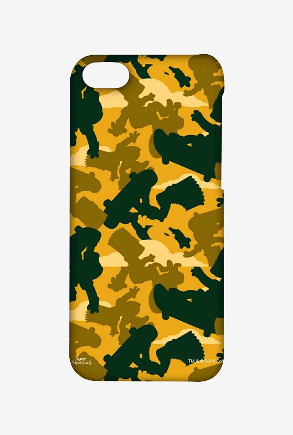 Simpsons Camo Bart Case for iPhone 5C