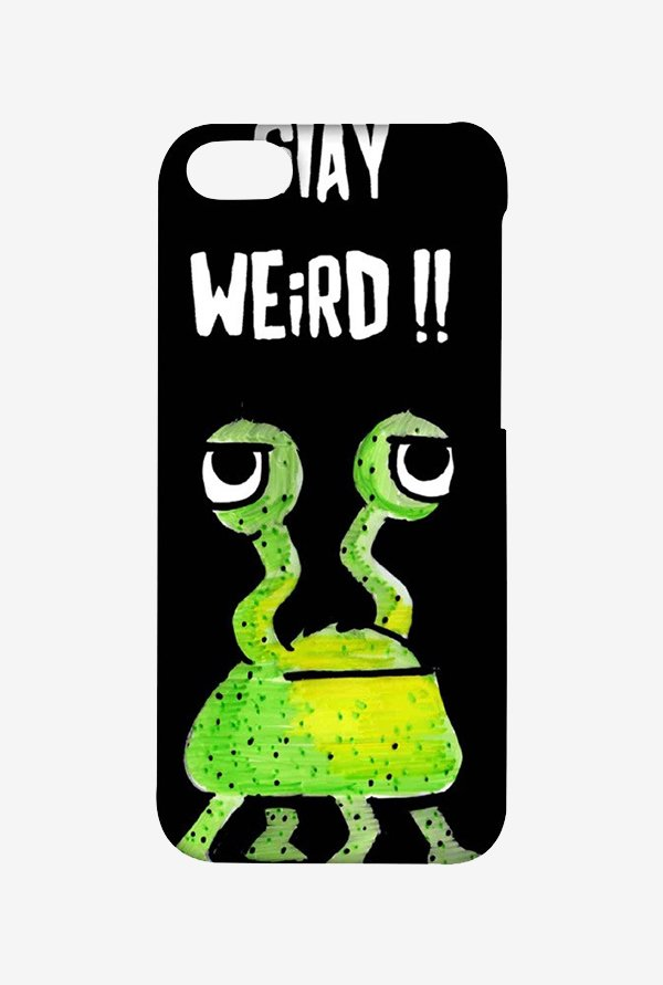 Kritzels Stay Weird Black Case for iPhone 4/4s