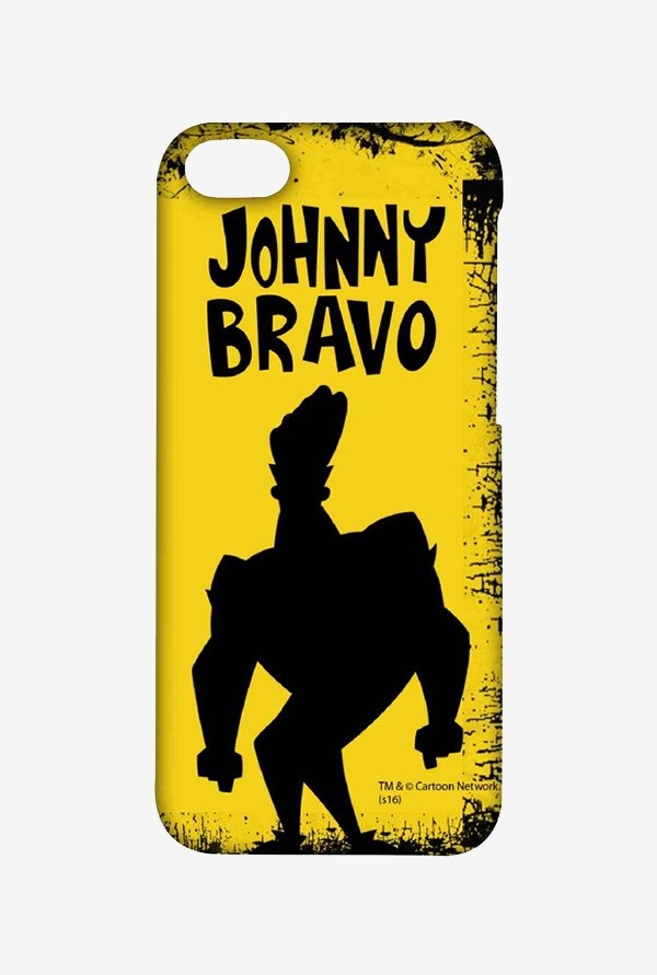 Johnny Bravo Yellow Grunge Case for iPhone 4/4s