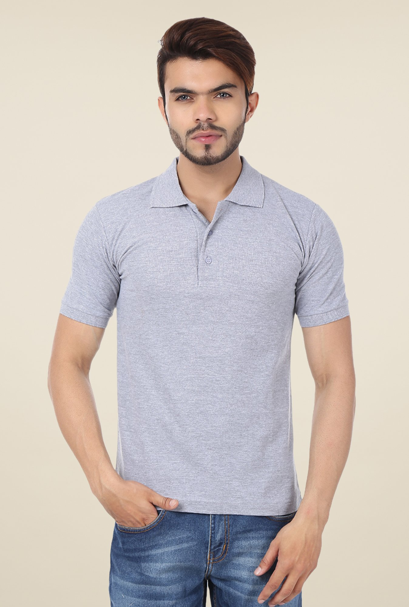 Weardo Grey Polo T Shirt