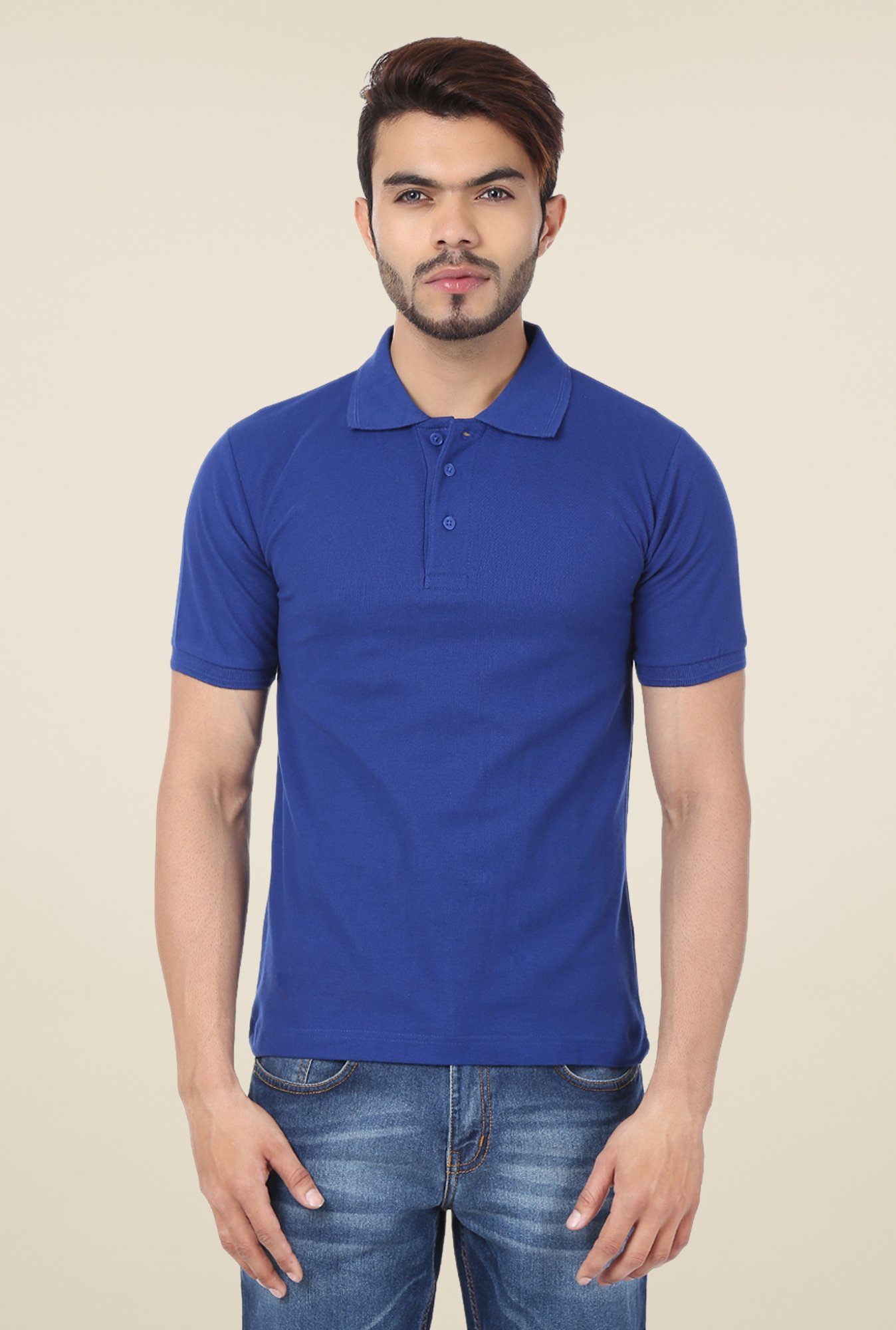Weardo Royal Blue Polo T Shirt