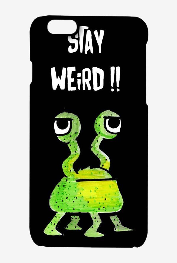 Kritzels Stay Weird Black Case for iPhone 6