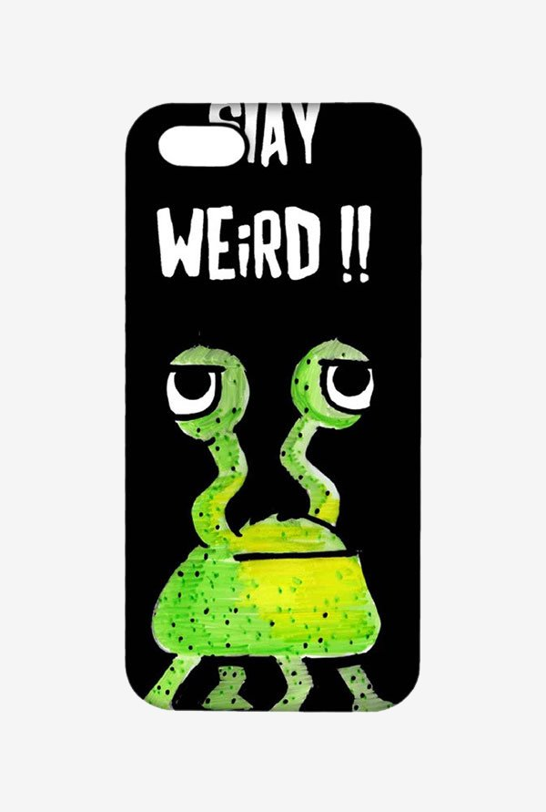Kritzels Stay Weird Black Case for iPhone 5/5s