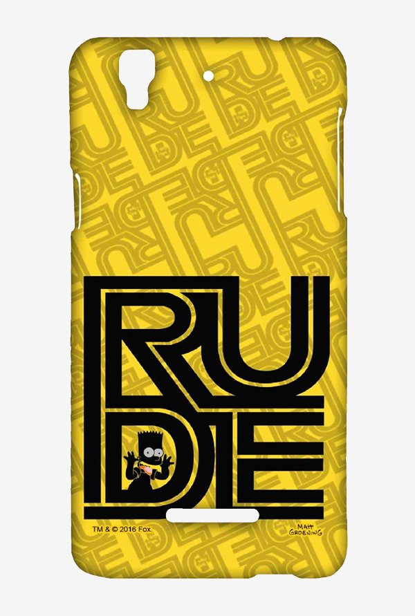 Simpsons Rude Case for Yu Yureka Plus