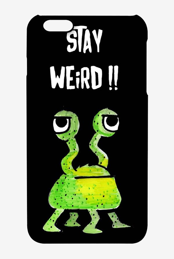 Kritzels Stay Weird Black Case for iPhone 6s Plus