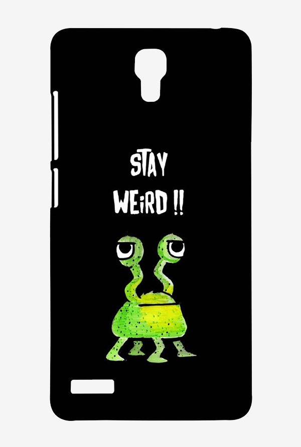 Kritzels Stay Weird Black Case for Xiaomi Redmi Note Prime