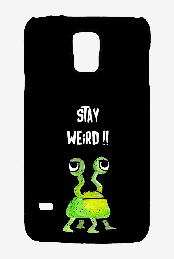 Kritzels Stay Weird Black Case for Samsung S5