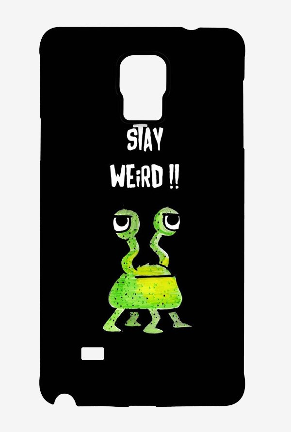 Kritzels Stay Weird Black Case for Samsung Note 4