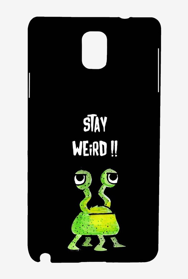 Kritzels Stay Weird Black Case for Samsung Note 3