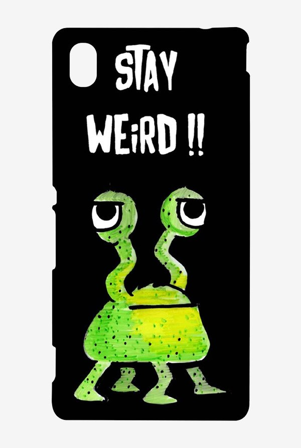 Kritzels Stay Weird Black Case for Sony Xperia M4