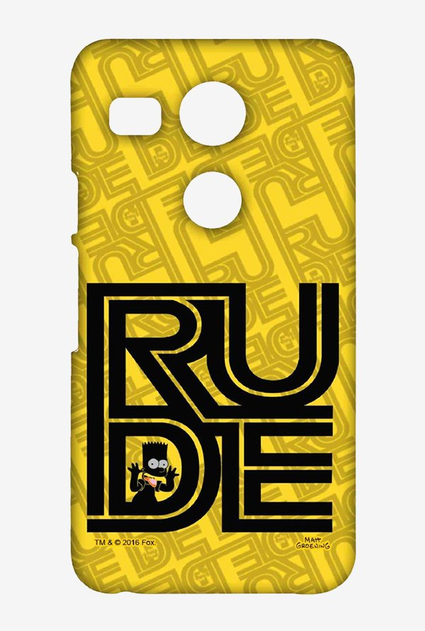Simpsons Rude Case for LG Nexus 5X
