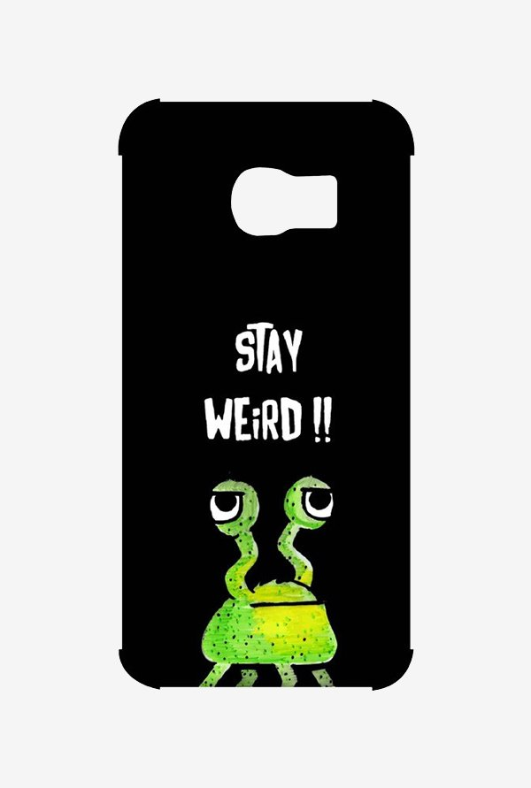 Kritzels Stay Weird Black Case for Samsung S6 Edge