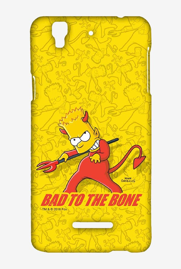Simpsons Bad To The Bone Case for Yu Yureka Plus