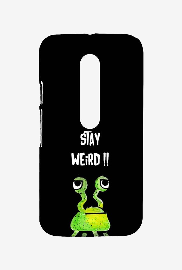 Kritzels Stay Weird Black Case for Moto G3