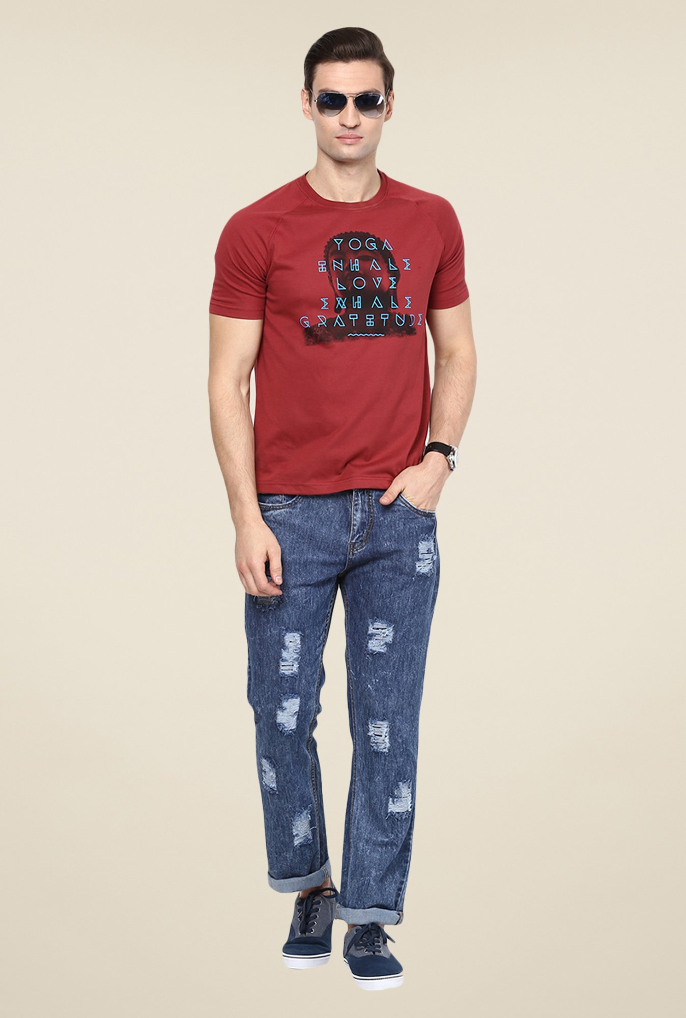 Yepme Blue Dwight Dark Wash Jeans