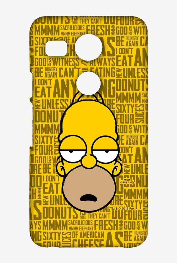 Simpsons Homer Says Case for LG Nexus 5X